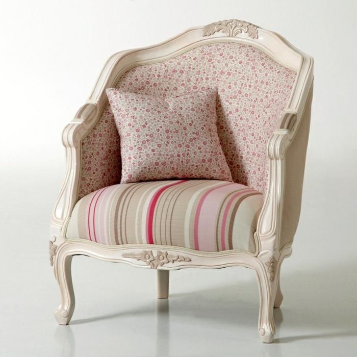 Lounge-sessel-Barock-Design-shabby-chic-Muster-rosa-Nuancen-Kissen