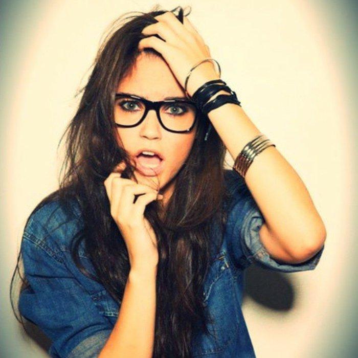 Mädchen-Denim-Hemd-nerd-brille