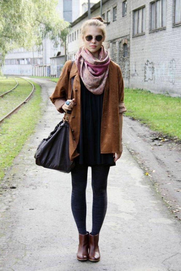 Mädchen-nerd-brille-Kleidung-hipster-style
