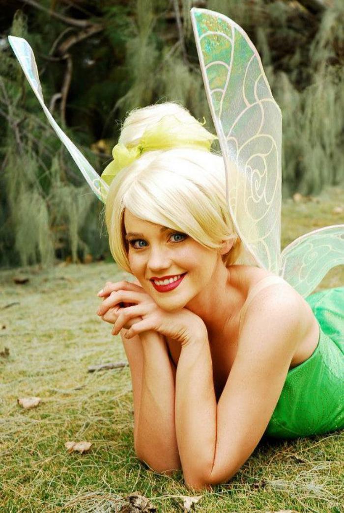 Mädchen-tinkerbell-kostüm-originelle-Feier-Idee