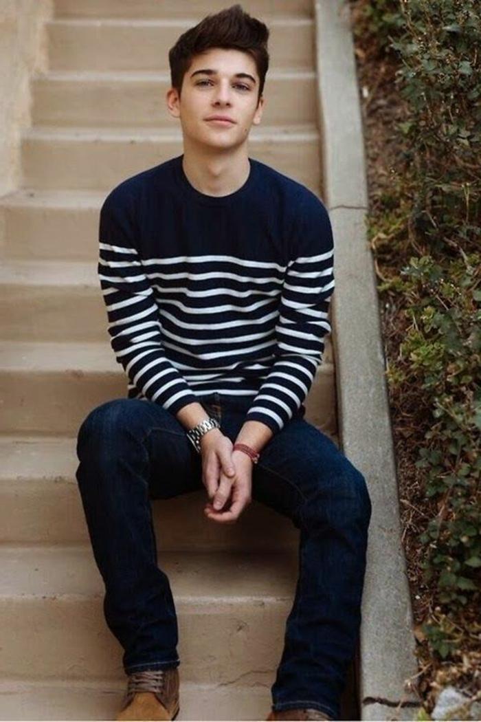 Mode-für-Jugendliche-Pullover-Streifen