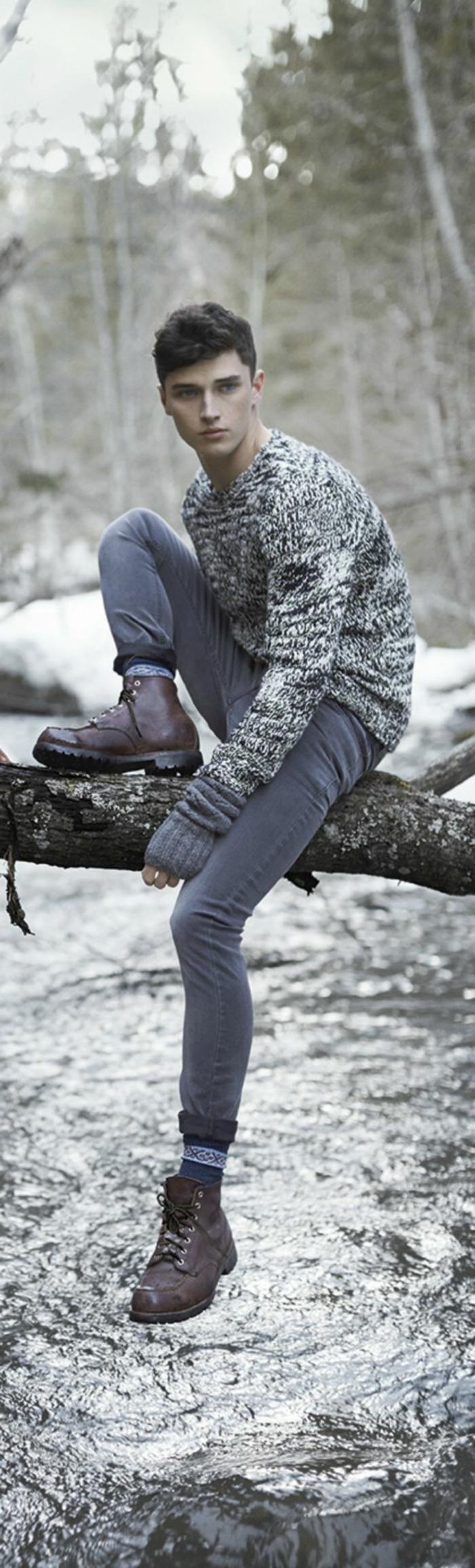 Mode-für-Jugendliche-warmer-Pullover-Jeans