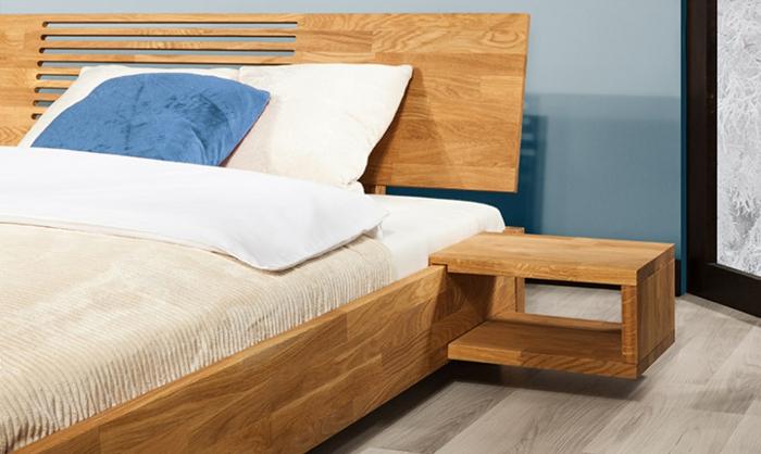 Polsterbett Mit Nachttisch Bett Und Nachttisch Set Creme Nussbaum