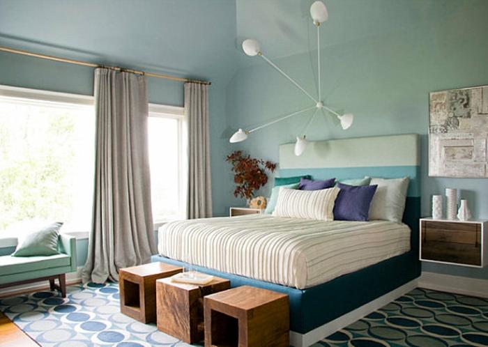 Nachtisch-zum-Einhängen-an-wand-blaues-schlafzimmer