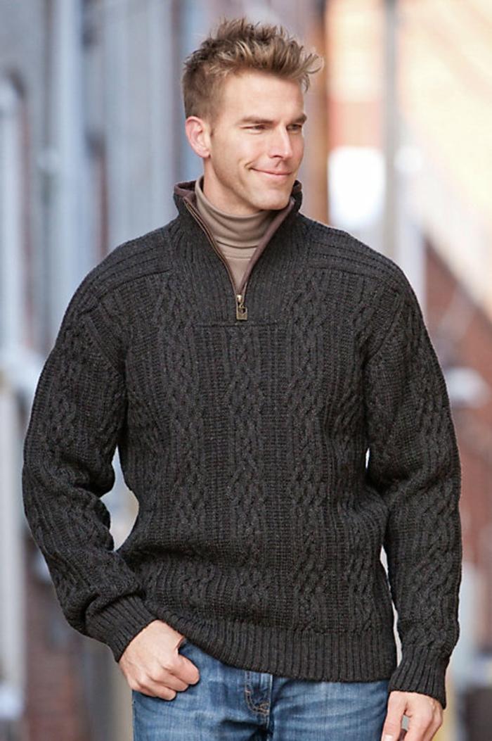 Norweger-Pullover-Männer-dunkel-blond