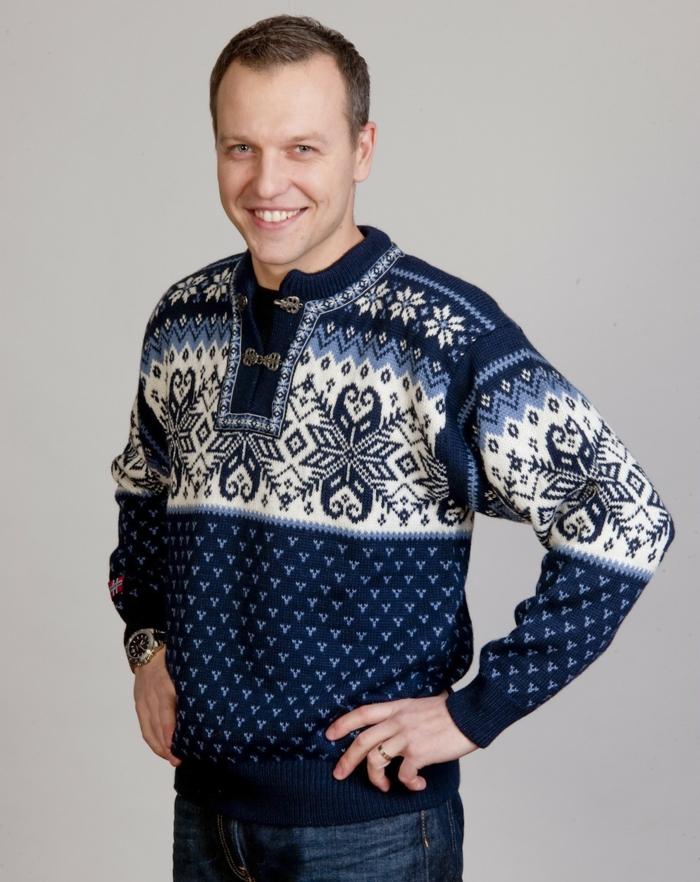 Norweger-Pullover-blau-schwarz