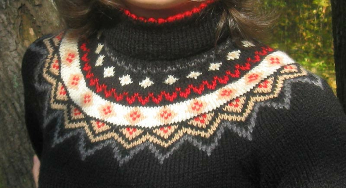 Norweger-Pullover-damen-muster-und-elementen