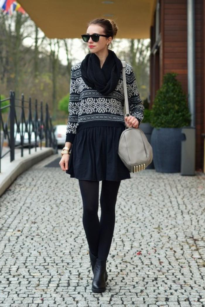 Norweger-Pullover-schwarz-schall-und-stiefel