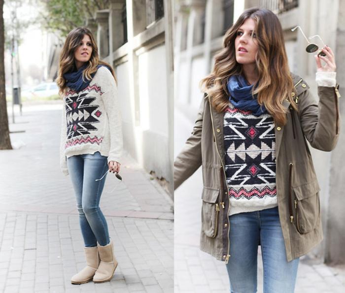 Norweger-Pullover-und-jeans