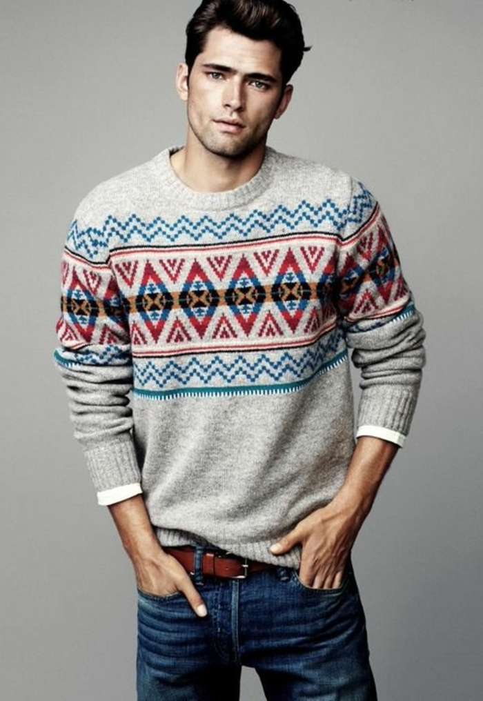 Pullover-Männer-wam-bequem-Jeans