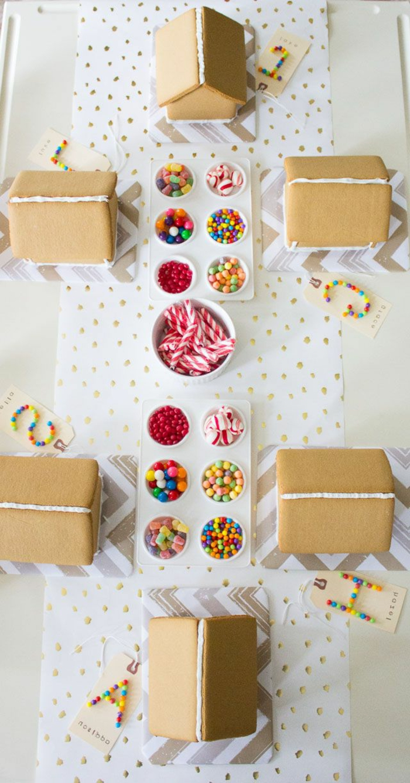 Süßigkeiten-Party-Häuschen-dekorieren-Lebkuchen