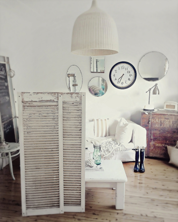 Schlafzimmer-vintage-Dekoration-Wandschirm