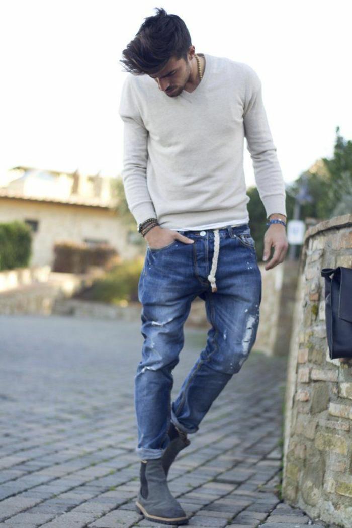 Der herren pullover gebrauchsanweisungen for Zerissene jeans herren