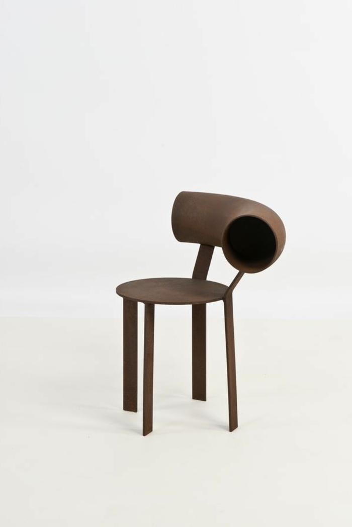 Stuhl-kreatives-innovatives-Design-Lehne-seltsame-Form