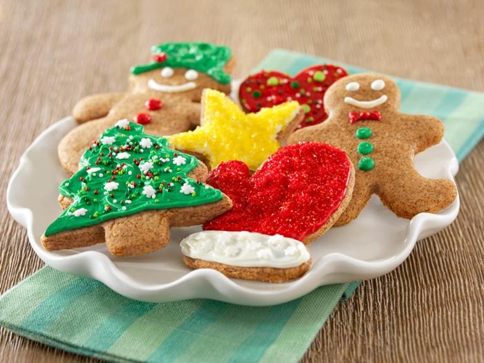 Teller-weihnachts kekse-originell-ideen-und-formen