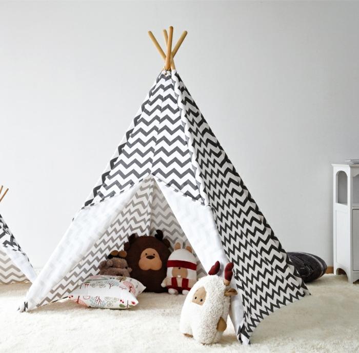 Tipi-Zelt-im-Kinderzimmer-Boho-Stil-Dekoration