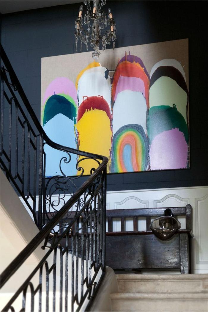 abstrakte zimmer deko ideen f r ihre wohnung. Black Bedroom Furniture Sets. Home Design Ideas
