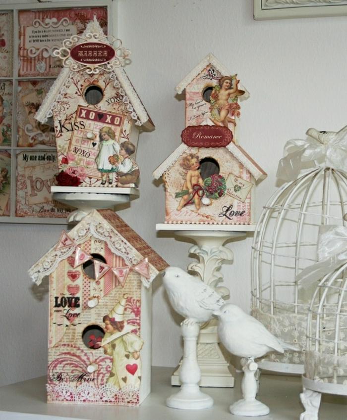 Valentinstag-Geschenk-idee-shabby-chic-dekorative-vogelhäuser