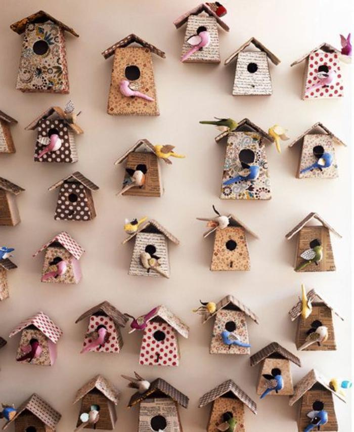 Wandgestaltung-Kinderzimmer-DIY-Idee-dekorative-vogelhäuser