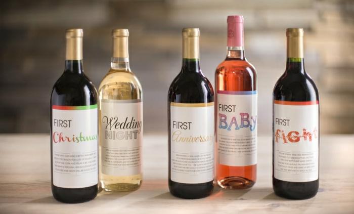 Weinflaschen-für-spezielle-Ereignisse-personalisiert/romantische-Idee