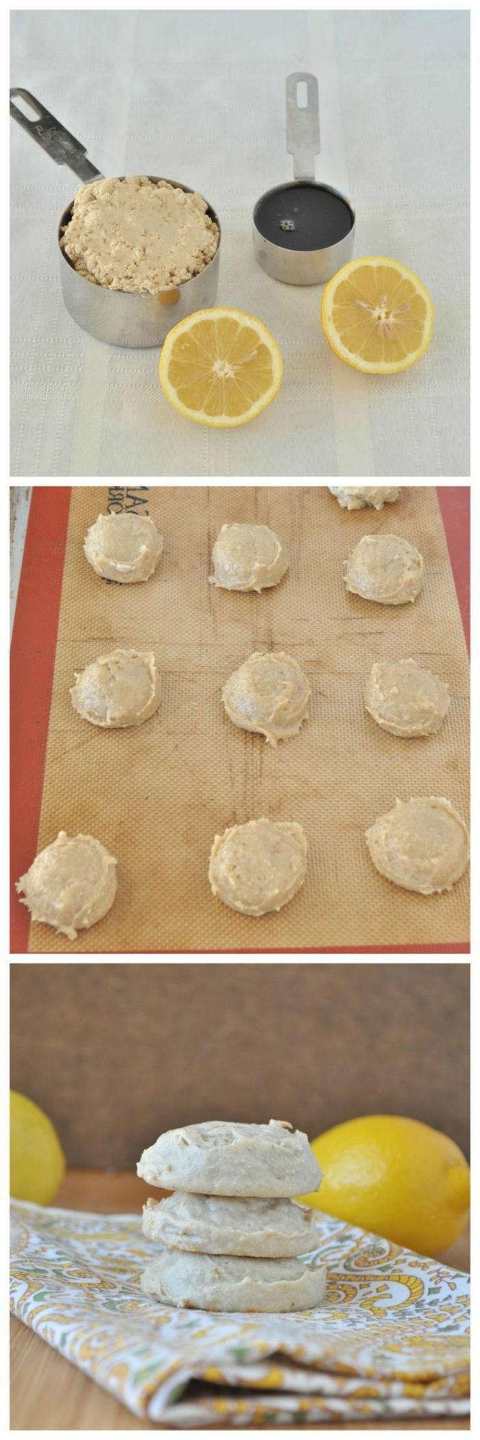 Zitronen-Cookies-ohne-Mehl-Zubereitung-leichtes-Rezept-gesunde-süßigkeiten-ohne-zucker-glutenfrei