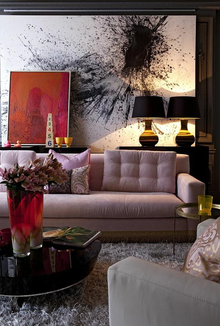 abstrakte-Bilder-fürs-wohnzimmer-graphik-grelle-Farben-art