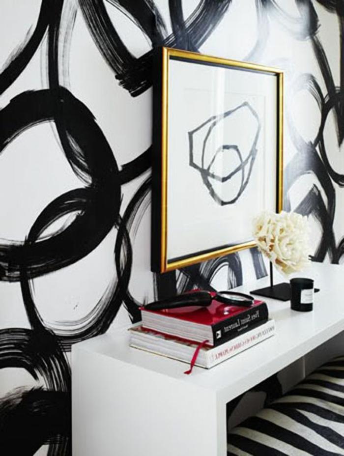 Abstrakte Zimmer Deko Ideen für Ihre Wohnung - Archzine.net