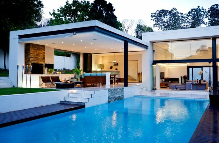 Moderne häuser mit pool  Moderne Häuser: mehr als 160 unikale Beispiele! - Archzine.net