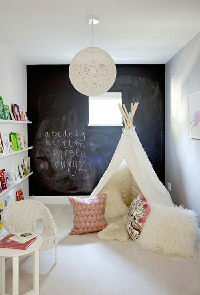 artistische-Kinderzimmer-Gestaltung-Zelt-originelle-Idee