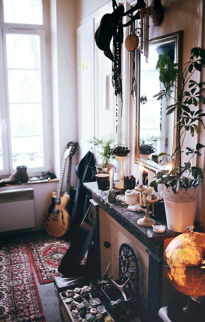 artistisches-Interieur-Akustik-Gitarre-als-Dekoartikel