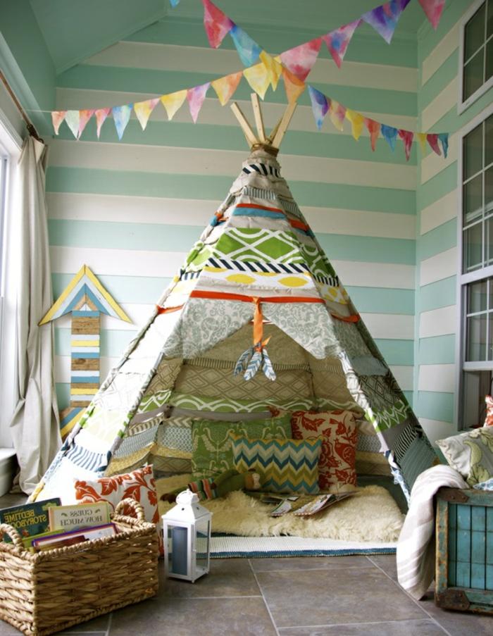 artistisches-Kinderzimmer-tipi-zelt-kaufen-originelle-Idee