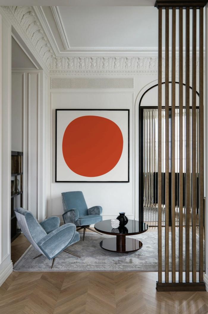 Außergewöhnliche Bilder, moderne Kunst, Wandbilder XXL, angesagte Inneneinrichtung, Bild von einem roten Kreis auf weißem Hintergrund