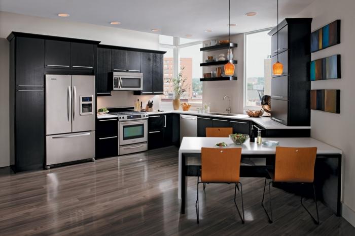 außergewöhnliche-wohnideen-elegante-küche-und-esszimmer