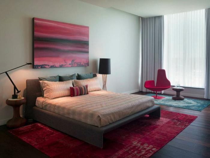 außergewöhnliche-wohnideen-rote-akzente-im-schlafzimmer