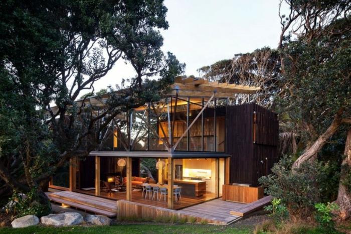 Moderne holzhäuser architektur  Moderne Häuser: mehr als 160 unikale Beispiele! - Archzine.net