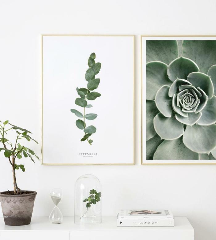 Schöne Wandekoration mit moderne Bilder mit Naturmotiven, Gerahmte Bilder für Wohnzimmer