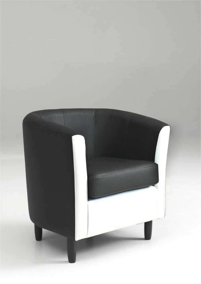 clubsessel-leder-elegantes-Design-schwarz-weiß-stilvoll