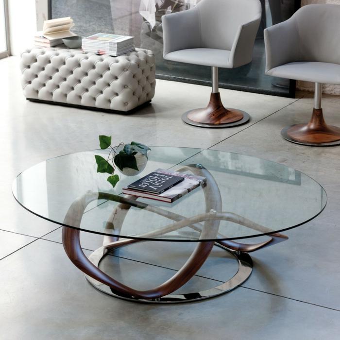 Couchtisch aus glas und edelstahl f r mehr eleganz im raum for Glas couchtische modern