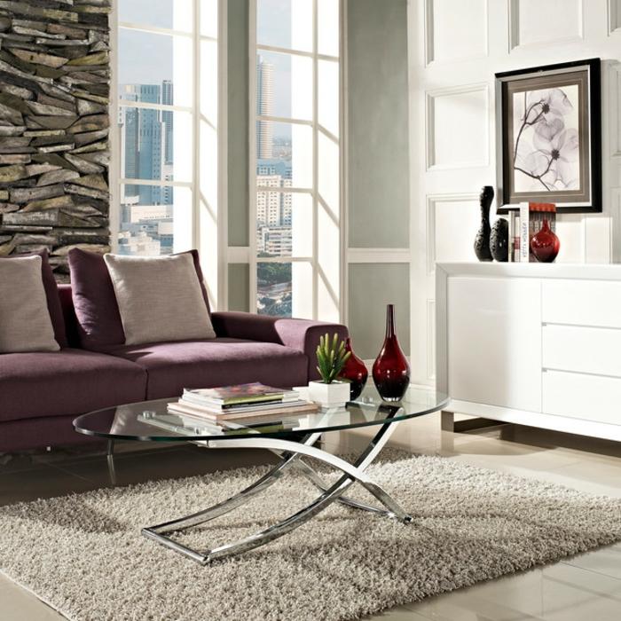 couchtisch modern und auffllig gestalten im wohnzimmer - Wohnzimmer Accessoires Edelstahl