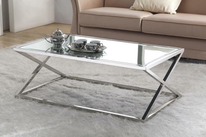 Couchtisch modernes design  Couchtisch aus Glas und Edelstahl für mehr Eleganz im Raum ...