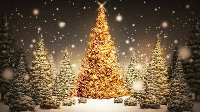 deko-weihnachtsbaum-wunderschönes-foto