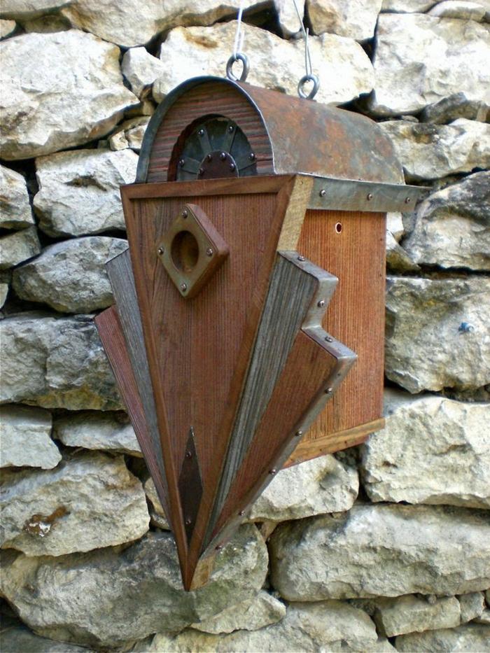 dekoratives-vogelhäuschen-Holz-vintage-antikes-Modell