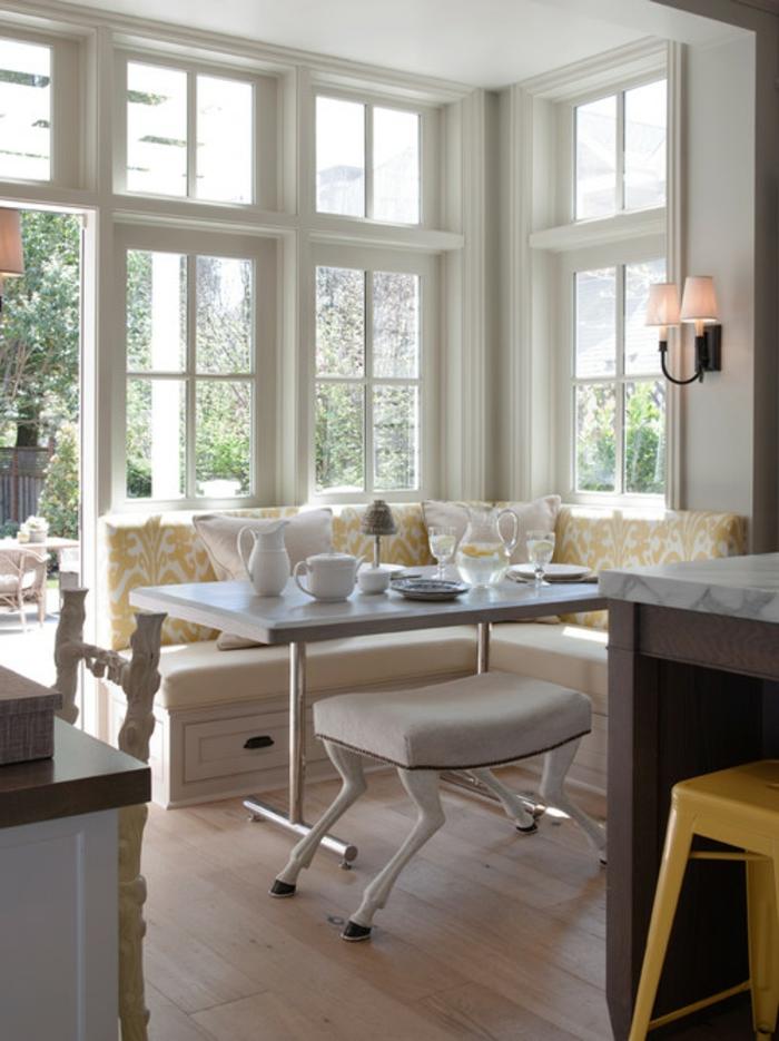 ... Eckbankgruppen aus Leder für eine schicke Sitzecke in der Küche