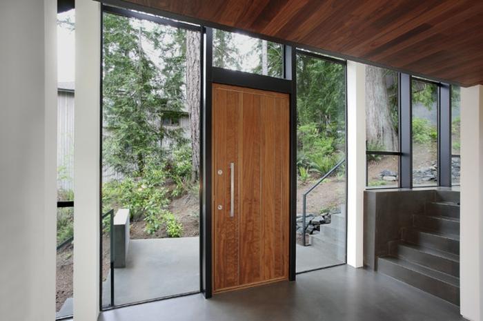 Eingangstüren modern holz  Haustüren aus Holz: 47 einzigartige Modelle! - Archzine.net