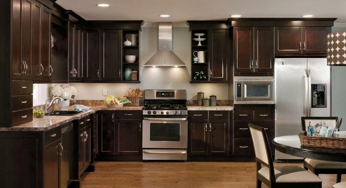 einrichtungs-ideen-für-küche-und-esszimmer-hölzerne-schränke
