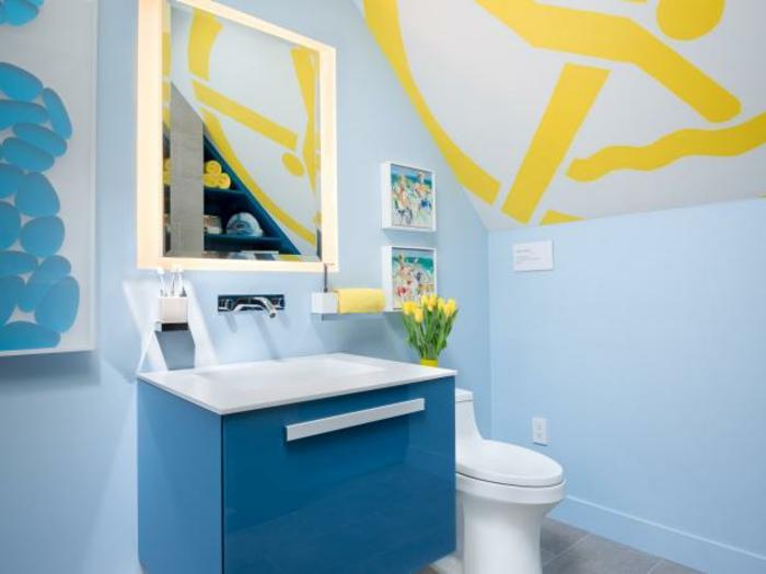 einrichtungsidee-fürs-bad-blaue-wandgestaltung