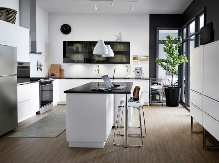 einrichtungsideen-küche-weiße-gestaltung-kochinsel