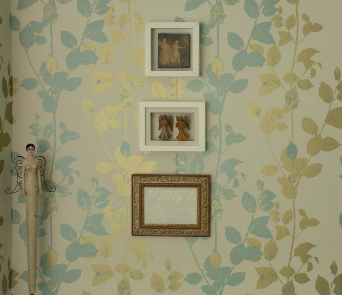 42 wundersch ne design ideen mit vintage tapeten. Black Bedroom Furniture Sets. Home Design Ideas