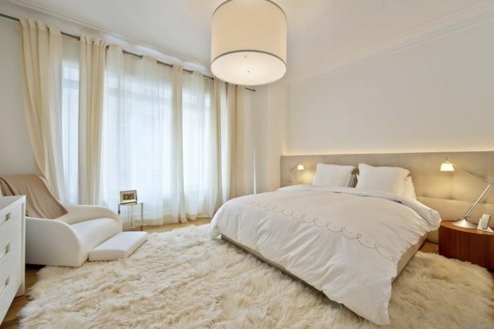 Wandfarbe Schlafzimmer Blauer Teppich