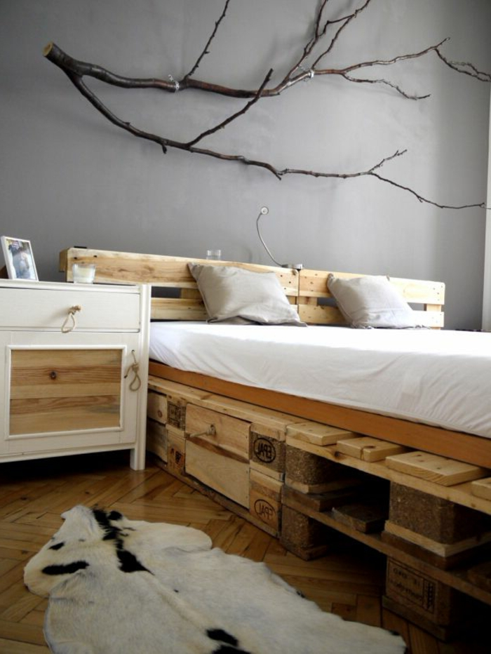 interieur ideen mit europaletten bett. Black Bedroom Furniture Sets. Home Design Ideas